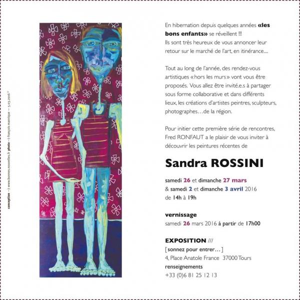 Expoition,sandra,rossini,peinture,tours,les bons enfants,galerie,fred,ronfaut