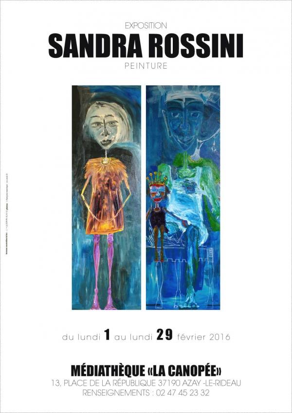 exposition,Sandra Rossini,Médiathèque La Canopée,Azay Le Rideau,peinture