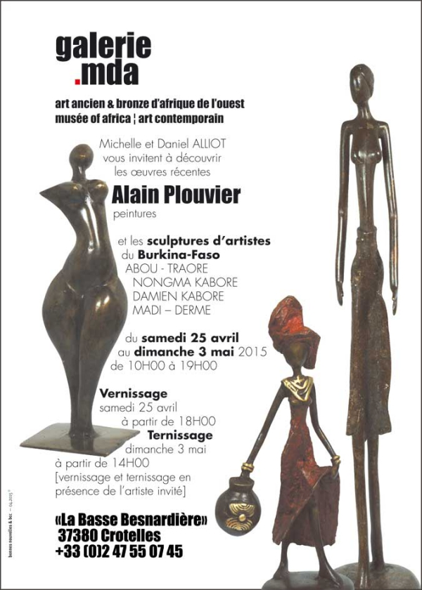 exposition,alain,plouvier,peintures,sculptures,afrique,burkina faso,