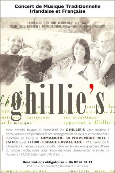concert,musique,traditionnelle,irlandaise,française,ghillie's,concert
