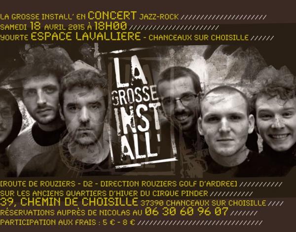 concert,jazz-rock,musique,espace lavalliere,yourte,la grosse install