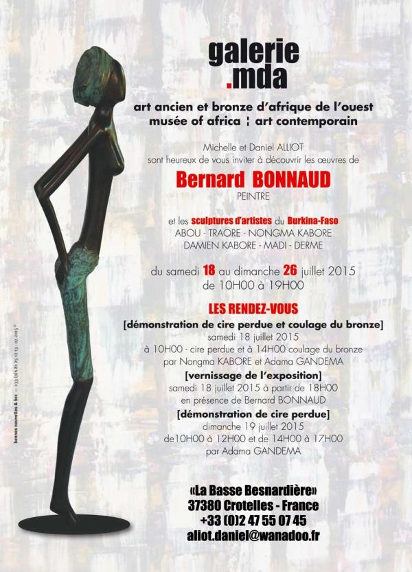 exposition,bernard bonnaud,peintures,sculptures,afrique,burkina faso,