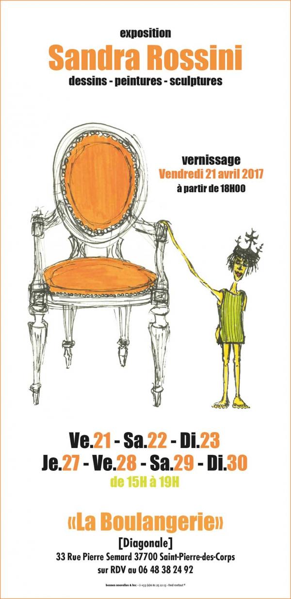 Exposition,La boulangerie,diagonale,sandra,rossini,peinture,dessin,sculpture