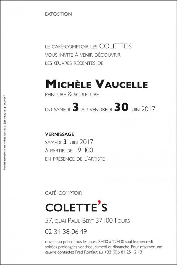 exposition,peintures,sculptures,michèle,vaucelle,3 au 30 juin 2017, café-comptoir colette's