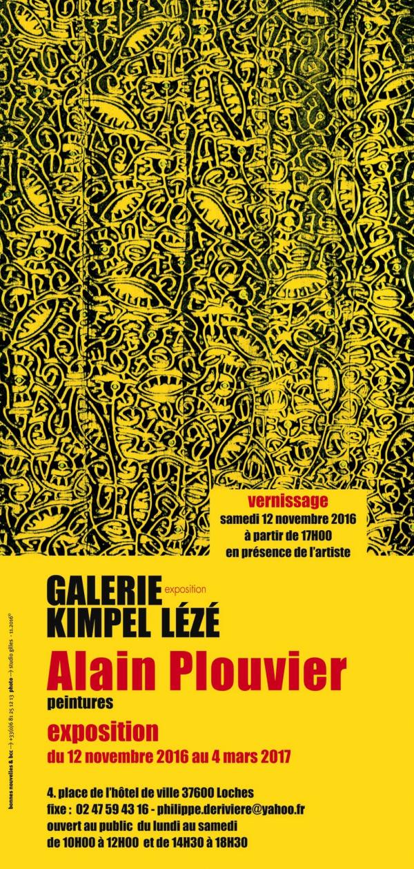 Alain Plouvier,Peinture,expose,galerie Kimpel-Lézé,Loches